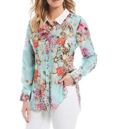 Aratta the thought of you floral shirt front