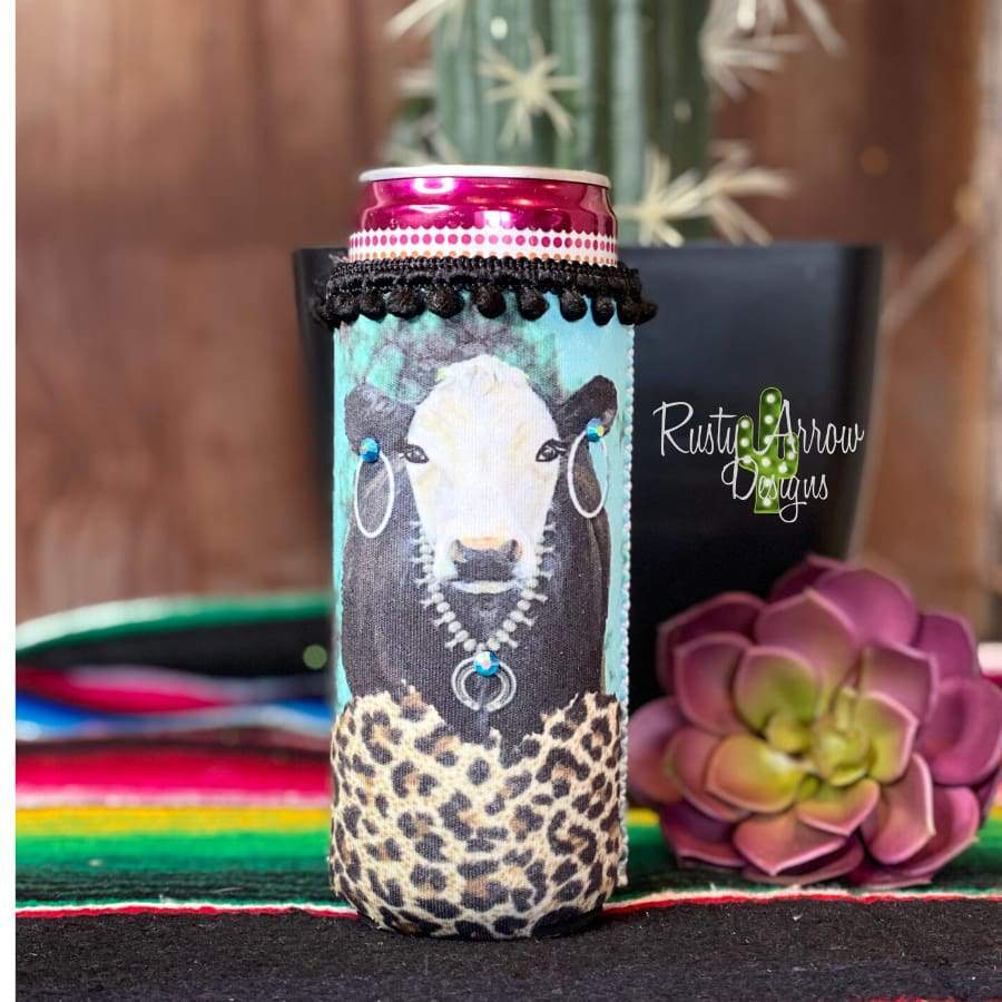 Cow Slim Koozie