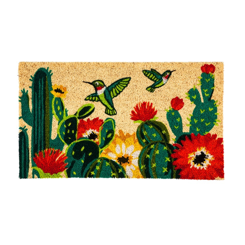 Evergreen Mat with Hummingbirds