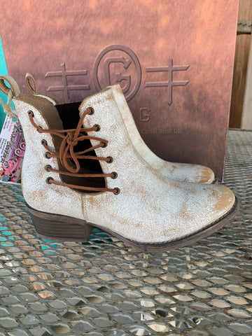 Circle G Whitewash Ankle Boot
