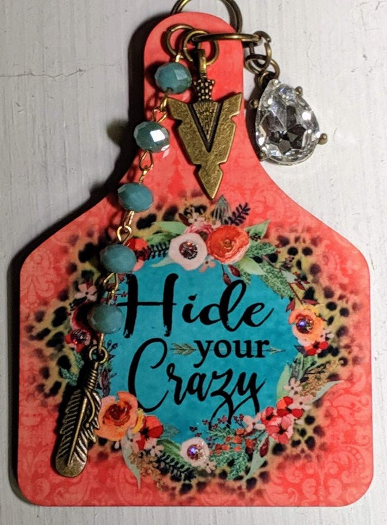 Hide Your Crazy- Car Tag
