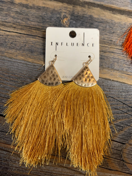 Teardrop Thread Earrings