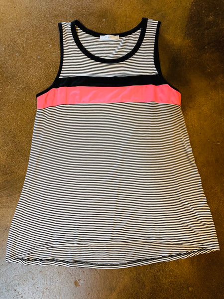 Black Stripe Tank