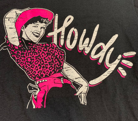 Howdy Vintage Cowgirl T Shirt