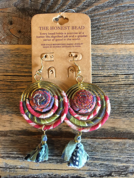Honest Beads Swirled Earrings