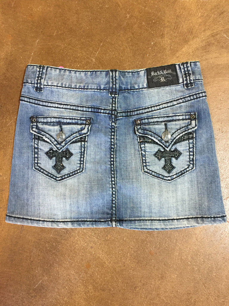 Rock & Roll Cowgirl Denim Skirt
