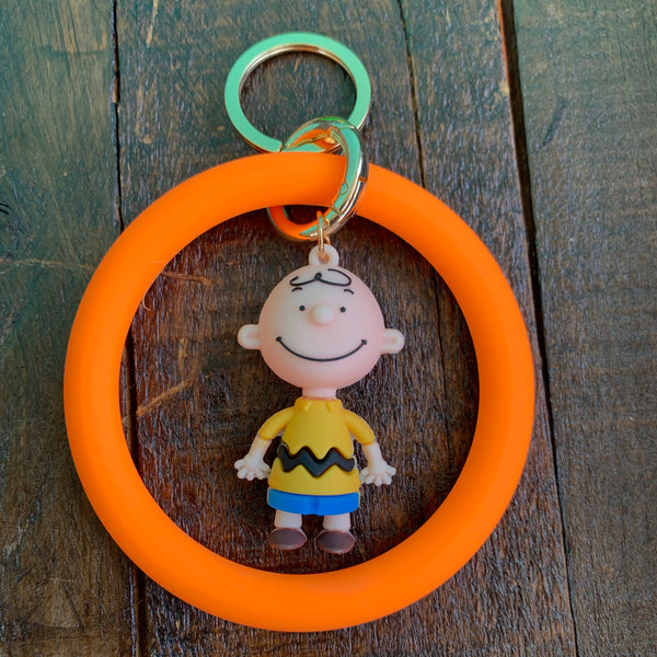 Rubber Neon Bracelets with Charlie Brown