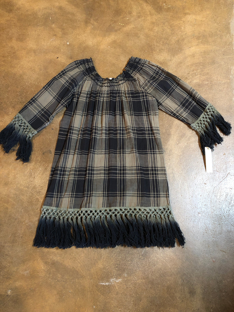 Sale Olive Green Plaid Tunic was $119.95