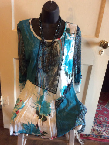 Turquoise Patchwork Tunic