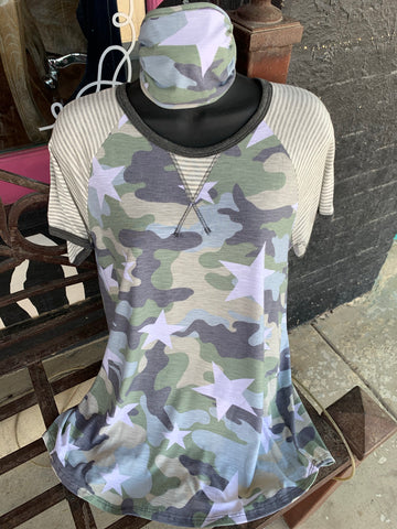 Camo\Star With Stripes Top