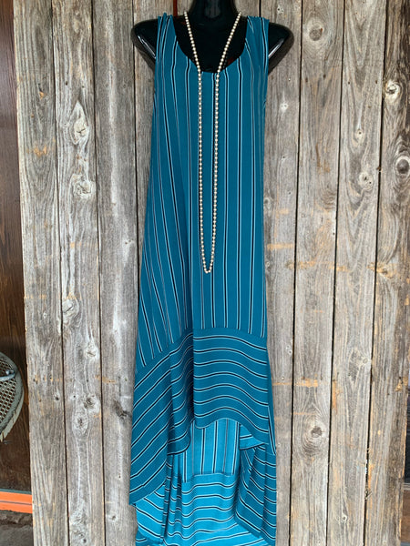 Teal Stripe Maxi Dress