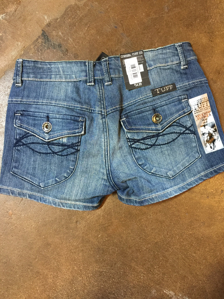 SALE ~ Jean Shorts with Side Stitch Detail