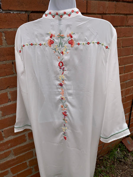 White Dress with embroidery detail