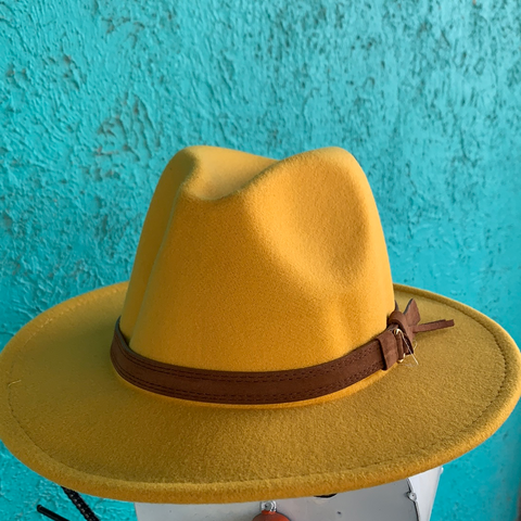 Retro Flat Big Brim Hat (7 colors)