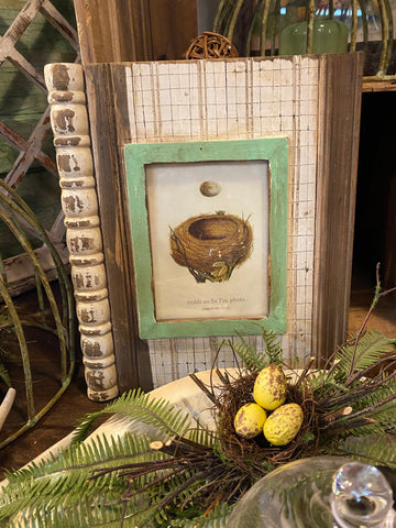 Farmhouse Frame Bird Nest