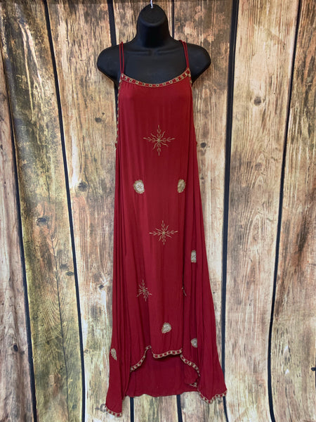SALE - Red Bohemian Dress