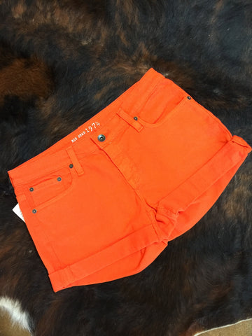 Orange Big Star Shorts