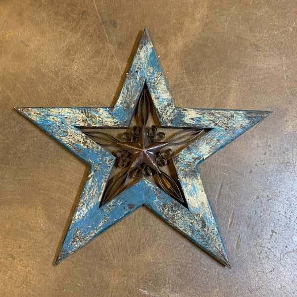 Texas Star w/scroll