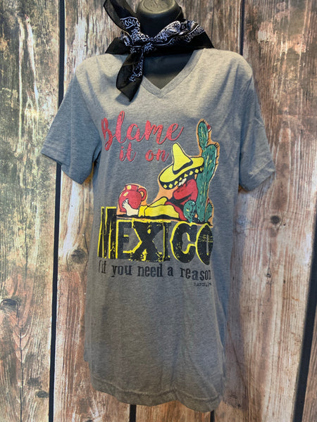 Blame it on Mexico T Shirt