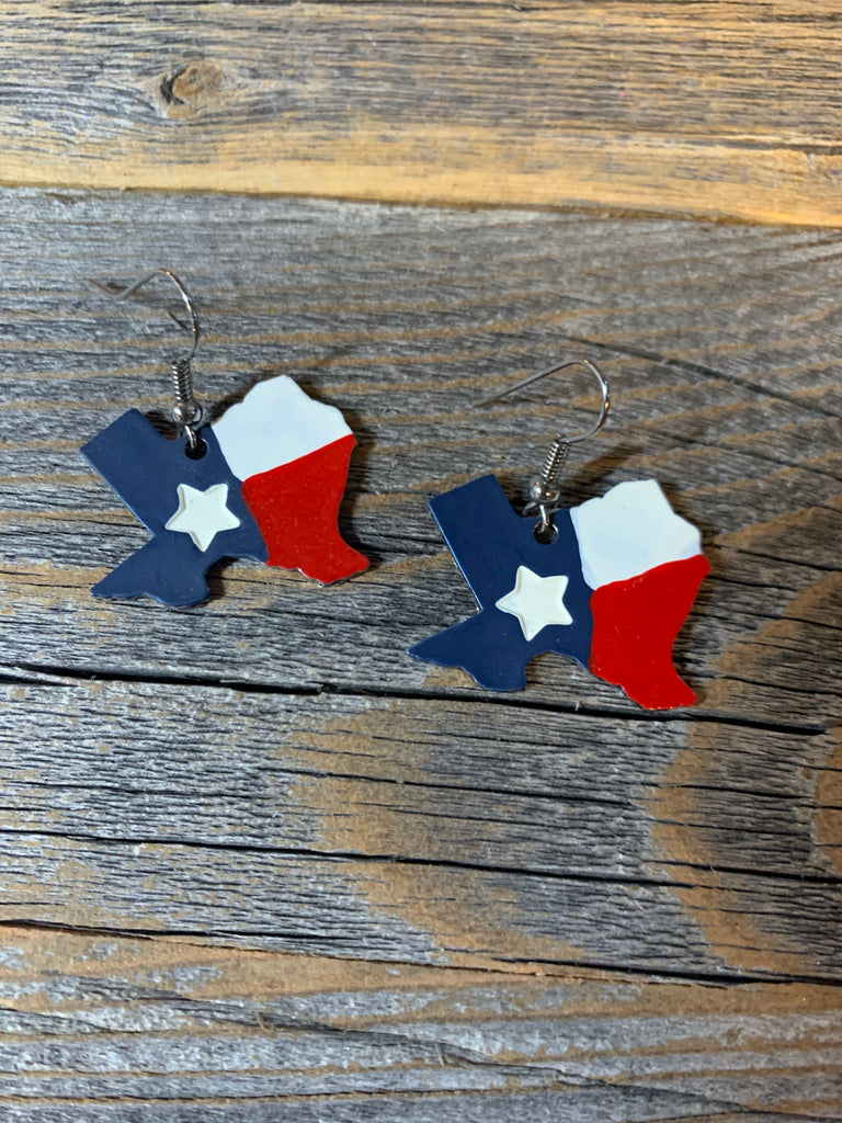 Texas Flag Earrings