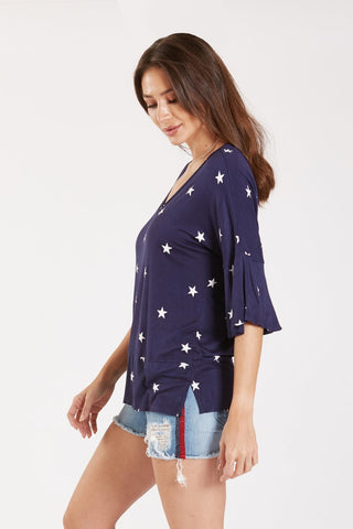 Blue Shirt with Stars