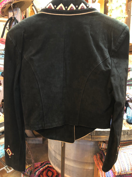 Pigskin Suede Beaded Jacket (Medium)
