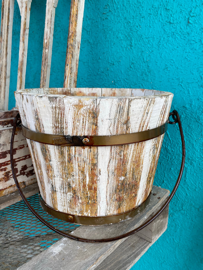 Distressed Water Bucket