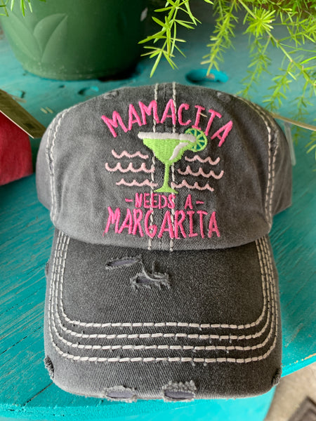 K&B Mamacita Needs a Margarita Ball Cap Charcoal