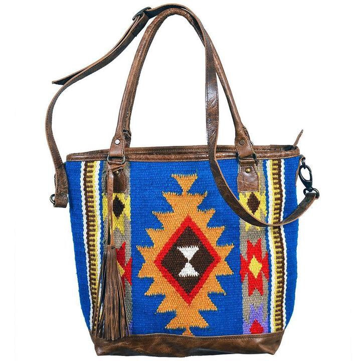 Navajo Tote with Leather