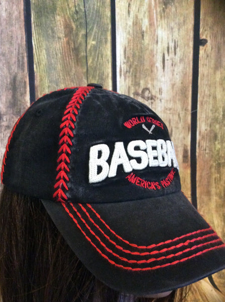 Red And Black Baseball Cap