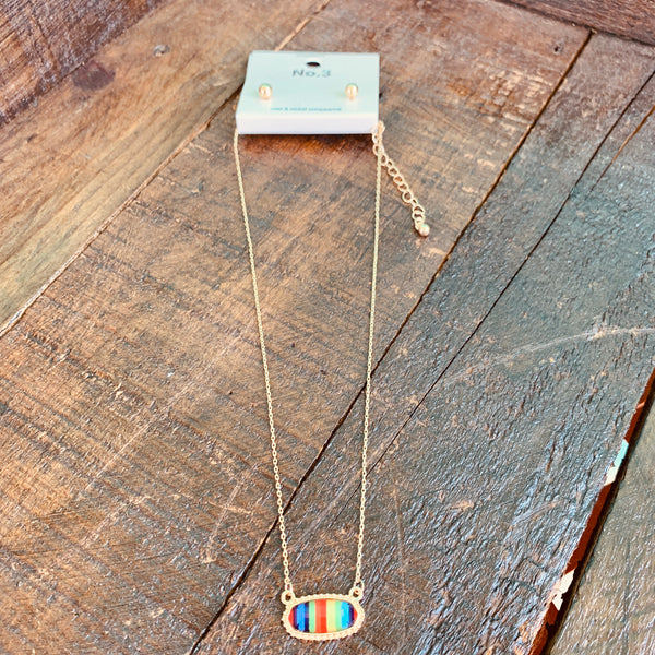 Serape Earring and Necklace Set