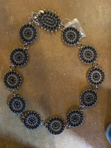 Black Stone Concho Belt