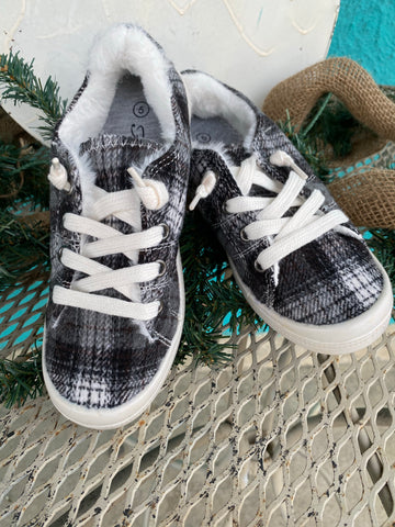 Black Plaid Sneaker