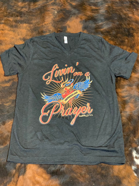 """Livin on A Prayer"" T Shirt"