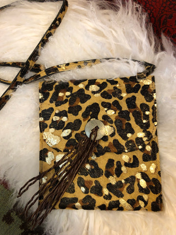 Metalic Cheetah Crossbody