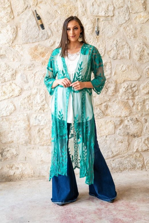Jade Lace Duster