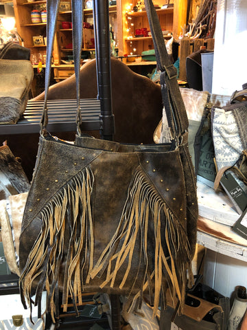 Bacci Brown Fringe Shoulder Bag