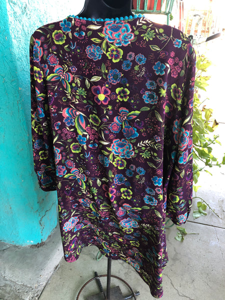 Sale ~ Plum and Floral Tunic