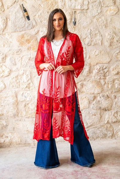 Red Lace Duster