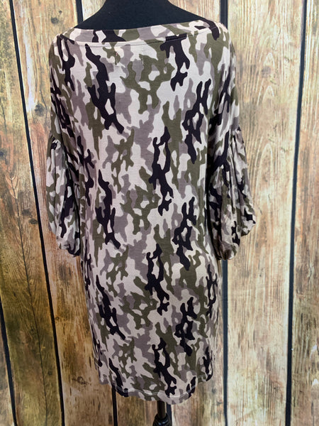 Brown Camo Tunic