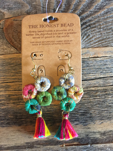 Honest Beads O's with Tassel Earrings