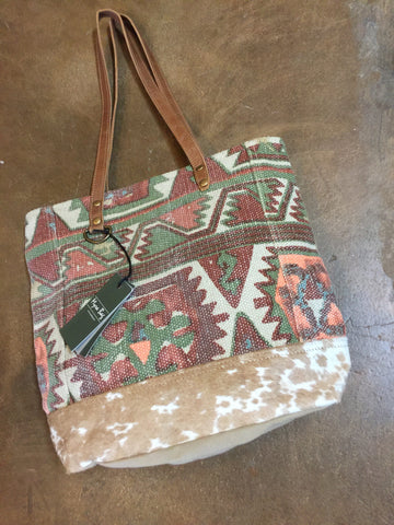 Myra Aztec Pursewith Cowhide