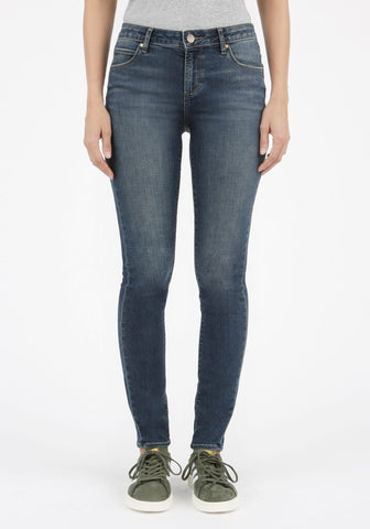 Articles of Society Acid Washed Blue Skinny Ankle