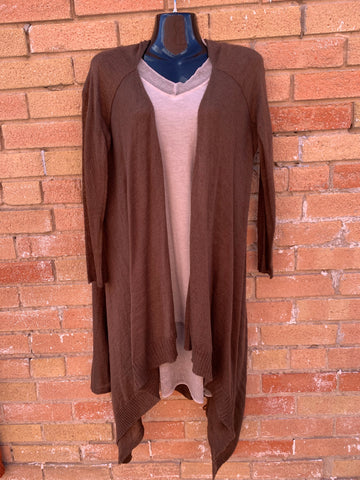 Long Cardigan in Brown