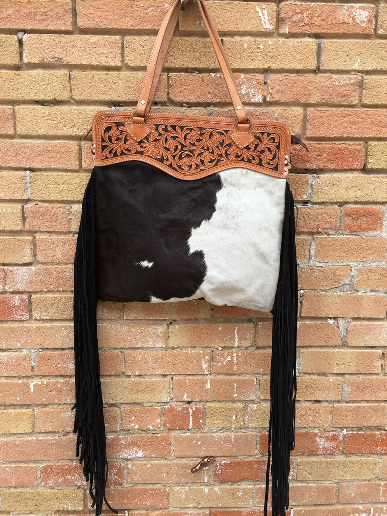 Big Hair-On Purse with Fringe