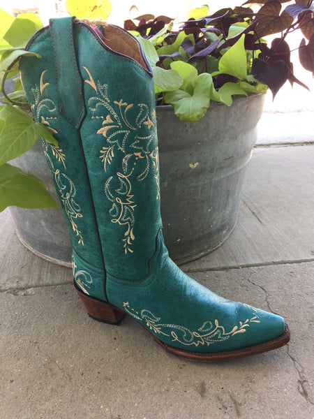 Circle G Turquoise Boot