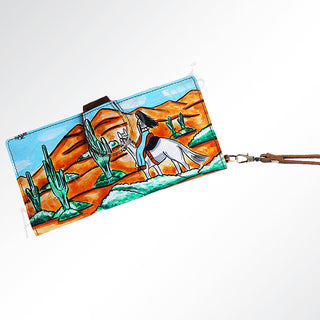 Cowgirl Hand Painted Wallet