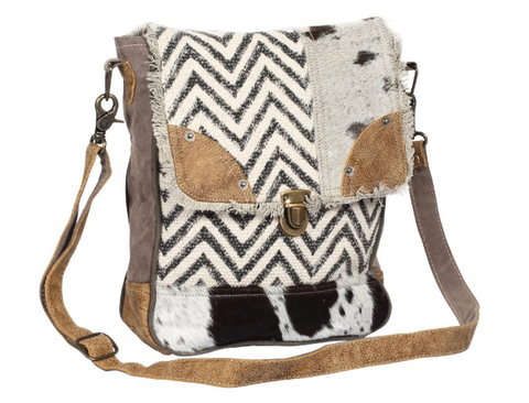 Myra Bag Rug & Patches Design Shoulder Bag