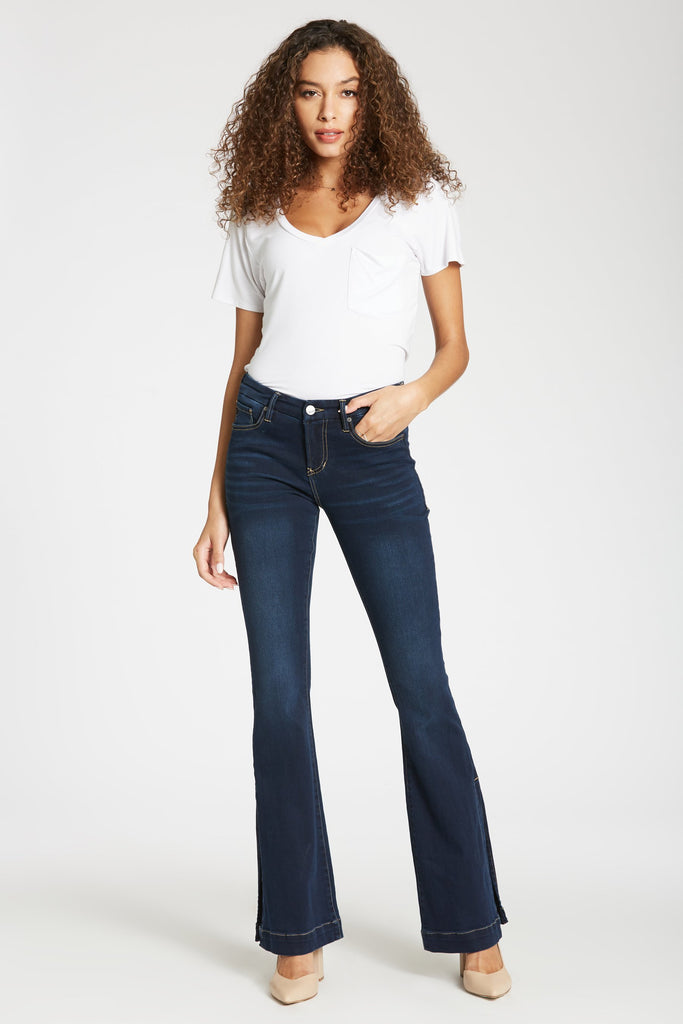 Sadie Highrise Flare with Side Slit