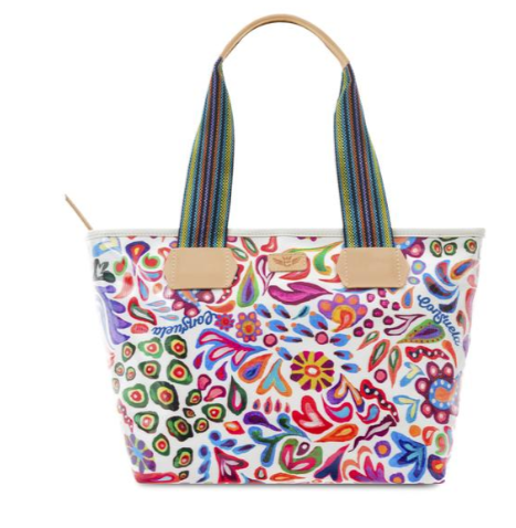 Consuela White Swirly Shopper Tote